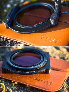Polarizer mounted on V5 holder, and back side with small wheel for rotating the filter